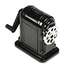 X-acto - boston ranger 55 table-mount/wall-mount manual pencil sharpener, black, sold as 1 ea