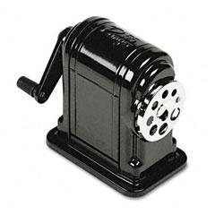 X-acto - boston ranger 55 table-mount/wall-mount manual pencil sharpener, black, sold as 1 ea