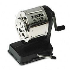 X-acto - model ks manual sharpener, vacuum base, black/chrome, sold as 1 ea