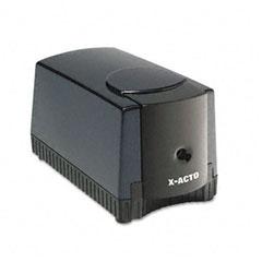 X-acto - deluxe heavy-duty desktop electric pencil sharpener, black/gray, sold as 1 ea
