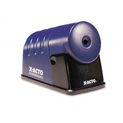 X-acto - powerhouse desktop electric pencil sharpener, translucent blue, sold as 1 ea