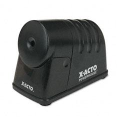 X-acto - powerhouse desktop electric pencil sharpener, black, sold as 1 ea