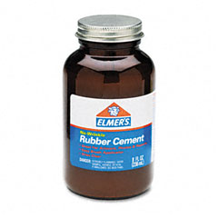 Elmer's - rubber cement, repositionable, 8 oz, sold as 1 ea