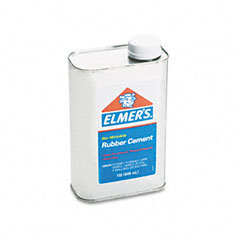 Elmer's - rubber cement, repositionable, 1 qt, sold as 1 ea