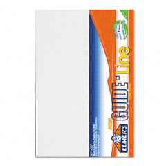 Elmer's - guide-line paper-laminated polystyrene foam display board, 20 x 30, white, 2/pk, sold as 1 pk