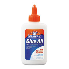 Elmer's - glue-all white glue, repositionable, 4 oz, sold as 1 ea