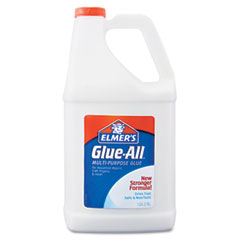 Elmer's - glue-all white glue, repositionable, 1 gal, sold as 1 ea