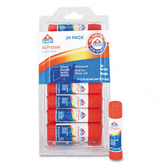 Elmer's - all-purpose permanent glue stick, white application, .21 oz, 24/pack, sold as 1 pk