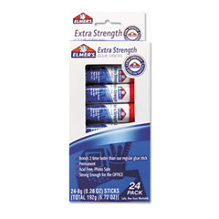 Elmer's - extra-strength office glue sticks, .28 oz, stick, 24/pack, sold as 1 pk