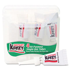 Krazy glue - krazy glue single-use tubes w/storage case, 4/pack, sold as 1 pk