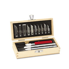 X-acto - knife set, 3 knives, 10 blades, carrying case, sold as 1 ea
