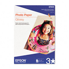 Epson - glossy photo paper, 60 lbs., glossy, 13 x 19, 20 sheets/pack, sold as 1 pk