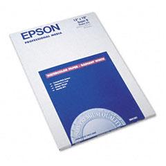 Epson - watercolor radiant white inkjet paper, 13 x 19, white, 20/pack, sold as 1 pk