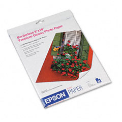 Epson - premium photo paper, 68 lbs., high-gloss, 8 x 10, 20 sheets/pack, sold as 1 pk