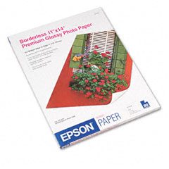 Epson - premium photo paper, 68 lbs., high-gloss, 11 x 14, 20 sheets/pack, sold as 1 pk