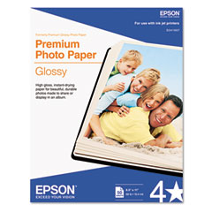 Epson - premium photo paper, 68 lbs., high-gloss, 8-1/2 x 11, 50 sheets/pack, sold as 1 pk