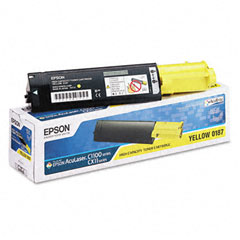 Epson S050187 S050187 Toner, 4000 Page-Yield, Yellow