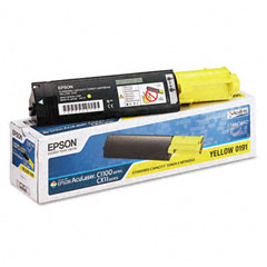 Epson S050191 S050191 Toner, 1500 Page-Yield, Yellow