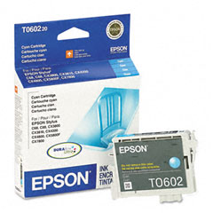 Epson - t060220 durabrite ink, 450 page-yield, cyan, sold as 1 ea