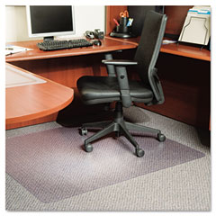 Es robbins - anchorbar 46x60 rectangle chairmat, multi-task series for carpet up to 3/8-inch, sold as 1 ea
