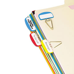 Pendaflex - pilesmart label clip file organizers, blue/red/yellow, 12/pack, sold as 1 pk