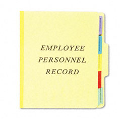 Esselte Pendaflex SER-1-YEL Vertical Personnel Folders, 1/3 Cut Top Tab, Letter, Yellow