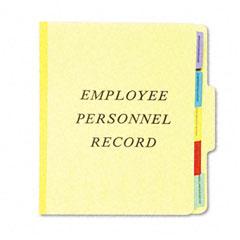Esselte Pendaflex SER-1-YEL Vertical Personnel Folders, 1/3 Cut Top Tab, Letter, Yellow