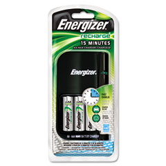 Energizer - charger, for 4 aa or aaa nimh batteries, 15-minute charge cycle, sold as 1 ea