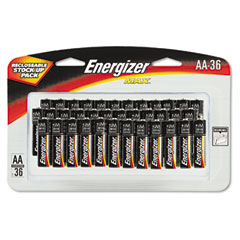 Energizer - max alkaline batteries, aa, 36 batteries/pack, sold as 1 pk