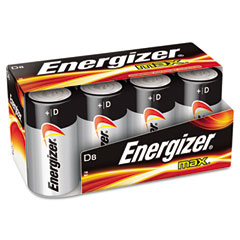 Energizer - max alkaline batteries, d, 8 batteries/pack, sold as 1 pk