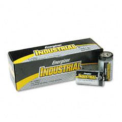 Energizer - industrial alkaline batteries, d, 12 batteries/pack, sold as 1 bx