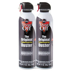 Dust-off - disposable compressed gas duster, 2 17oz cans/pack, sold as 1 pk