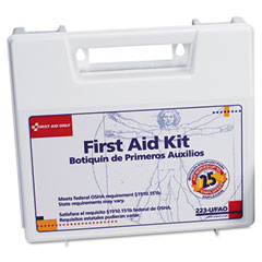 First aid only - bulk first aid kit for 25 people, 106 pieces, osha compliant, plastic case, sold as 1 ea