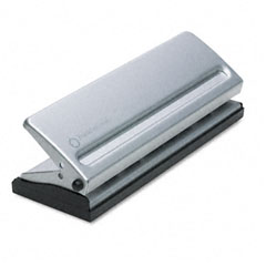 Franklincovey - four-sheet seven-hole punch for classic style day planner pages, metal, sold as 1 ea