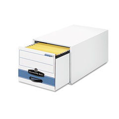Bankers box - stor/drawer steel plus storage box, letter, white/blue, 6/carton, sold as 1 ct