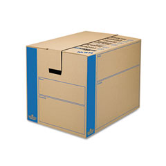 Fellowes 0062901 Smoothmove Moving Storage Box, Extra Strength, Large, 18W X 24D X 18H, Kraft