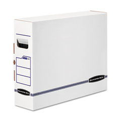 Bankers box - x-ray storage box, film jacket size, 5 x 14-7/8 x 18-3/4, white/blue, 6/carton, sold as 1 ct