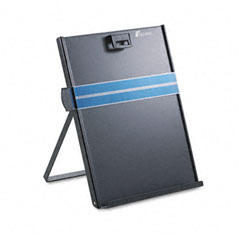 Fellowes - letter-size freestanding desktop copyholder, stainless steel, black, sold as 1 ea