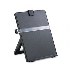 Fellowes - non-magnetic legal-size desktop copyholder, plastic, black, sold as 1 ea