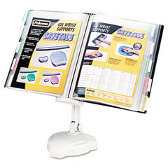 Fellowes - desktop/wall mount copyholder, plastic, 10 pockets, platinum, sold as 1 ea