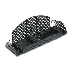 Fellowes 22326 Perf-Ect Multi Desk Organizer, Metal/Wire, 12 7/8 X 4 X 4 3/4, Black