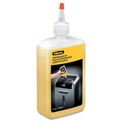 Fellowes - shredder oil, 12 oz. bottle w/extension nozzle, sold as 1 ea