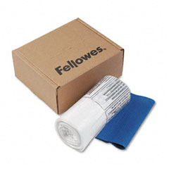 Fellowes - powershred shredder bags, 10 gal. capacity, clear, 100 bags & ties/carton, sold as 1 ct