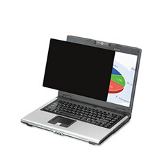 Fellowes - black-out privacy frameless filter for 14.1-inch lcd/notebook, antiglare, sold as 1 ea