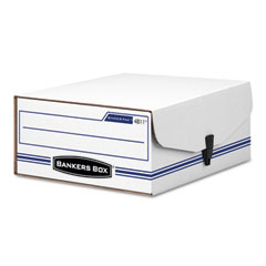 Bankers box - liberty binder-pak storage box, letter, snap fastener, white/blue, sold as 1 ea
