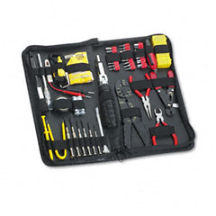Fellowes - 55-piece computer tool kit in black vinyl zipper case, sold as 1 ea