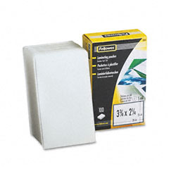 Fellowes 52031 Laminating Pouches, 5 Mil, 2-1/4 X 3-3/4, Business Card, 100/Pack