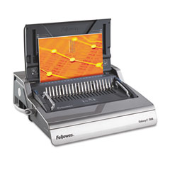 Fellowes - galaxy comb binding system, 500 sheets, 19-5/8w x 17-3/4d x 6-1/2h, gray, sold as 1 ea
