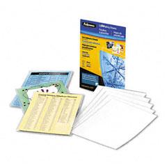 Fellowes - self-laminating sheets, 3 mil, 9-1/8 x 12, 10/box, sold as 1 pk