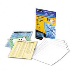 Fellowes - self-laminating sheets, 3 mil, 9 x 12, 50/box, sold as 1 pk